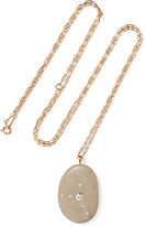 Cvc Stones Athenes 18-karat Gold, Stone And Diamond Necklace