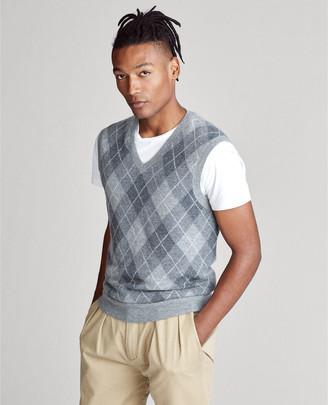 Ralph Lauren Argyle Cashmere Sweater Vest