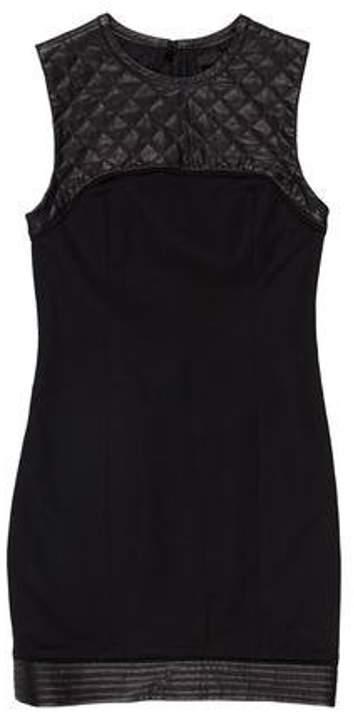 Alexander Wang Sleeveless Mini Dress Black Sleeveless Mini Dress