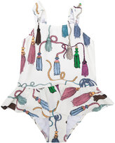 Mini Rodini tassels print swimsuit - kids - Spandex/Elastane/Recycled Polyamide - 3 yrs