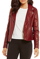 Gianni Bini Jordan Moto Genuine Leather Jacket