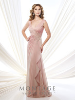 Montage By Mon Cheri - 215907 Dress In Wedgewood