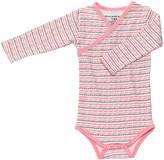 Petunia Pickle Bottom Pink Sweet Celebration Organic Cotton Long-Sleeve Bodysuit