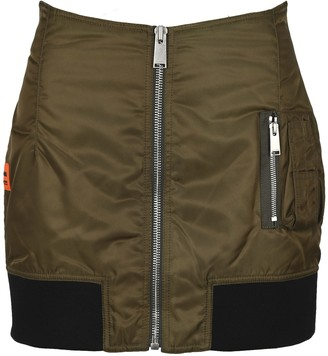 Heron Preston Logo Patch Zipped Mini Skirt