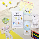 Jagsbery Easter Finger Puppets And CD Gift Set