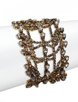 Erickson Beamon Bette Crystal Layered Multi-Row Bracelet