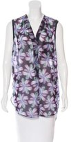 Sandro Sleeveless Floral Print Top