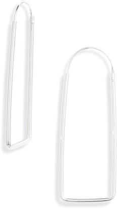 Argentovivo Geo Endless Hoop Earrings