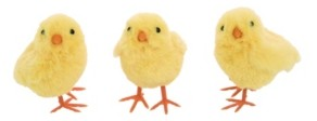 Transpac Trans Pac Yellow Easter Plush Baby Chick - Set of 3