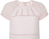 Carolina Herrera Pleated Sleeves Blouse