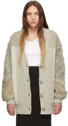 Stella McCartney Beige Fur Free Fur Cardigan