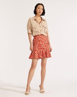 Veronica Beard Taras Floral Skirt