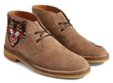 Gucci Men's New Moreau Embroidered Chukka Boot