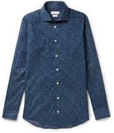 Richard James Slim-fit Printed Cotton-poplin Shirt