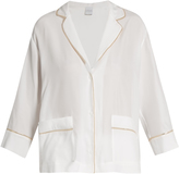Carine Gilson Silk-satin pyjama top