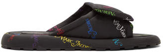 Marc Jacobs Black and Multicolor New York Magazine Edition The Slipper Sandals