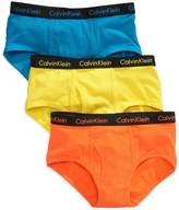 Calvin Klein Boys Solid 3 Pack Briefs (S 6/7, )