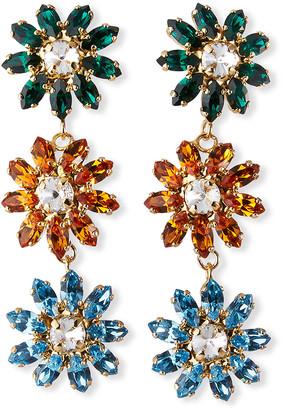 Rosantica Utopia Crystal Triple-Drop Earrings