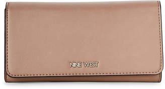 Nine West Latte Vesper SLG Flap Wallet