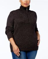 Karen Scott Plus Size Half-Zip Sweater, Created for Macy's