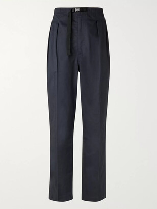 Chimala Tapered Belted Pleated Cotton-Poplin Trousers