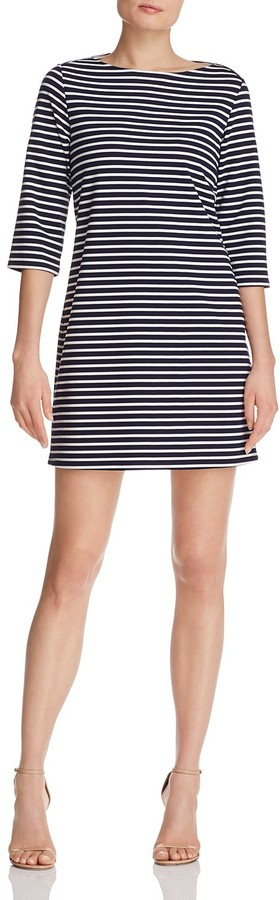 Leota Striped Elbow Sleeve Dress