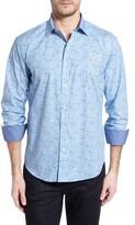 Bugatchi Men's Shaped Fit Long Sleeve Sport Shirt
