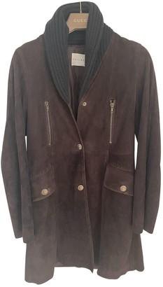 Celine Brown Suede Coats