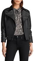 AllSaints Deebee Leather Blazer, Black