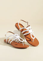 ModCloth Uniquely Yours Sandal in Blanc in 6