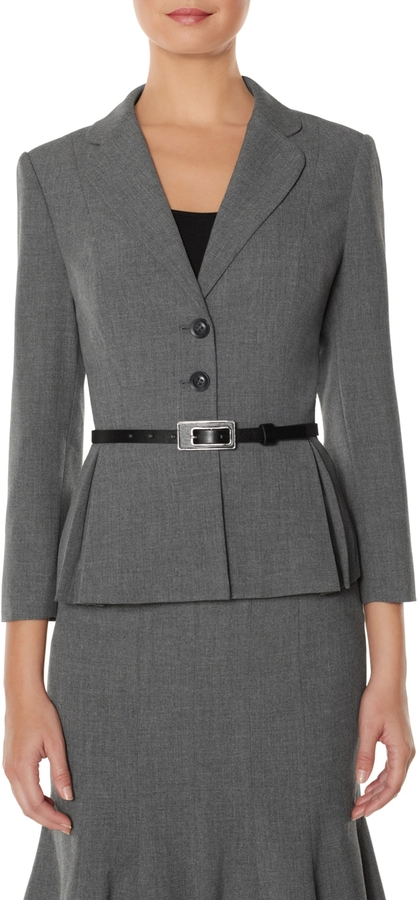The Limited Belted Peplum Jacket