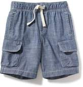 Old Navy Chambray Cargo Shorts for Toddler Boys