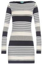 Melissa Odabash Maddie stripe-knit mini dress