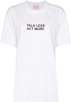 Natasha Zinko talk less act more T-shirt