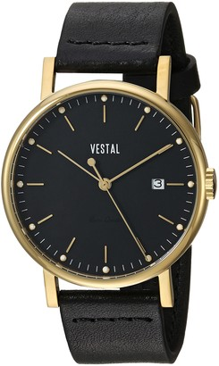 Vestal Sophisticate 36 Stainless Steel Swiss-Quartz Watch with Leather Strap