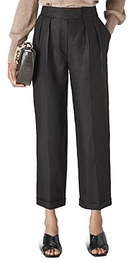 Whistles Lydia Linen Pleated Pants