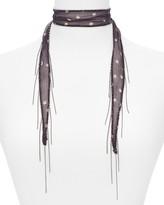 Chan Luu Star Print Chain-Fringe Necktie