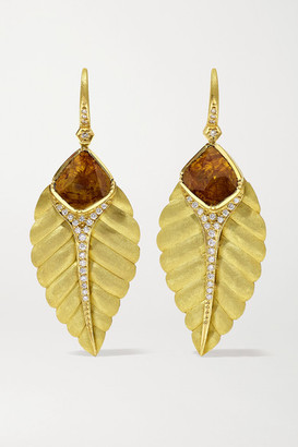 Brooke Gregson Maya 18-karat Gold Diamond Earrings