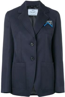 Prada classic logo blazer