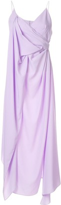 Acler Hermatige draped midi dress