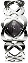 Seksy 4159.37 Ladies Hidden Hearts Swarovski Crystal and Black Mother of Pearl Bracelet Watch