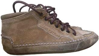 Louis Vuitton Camel Suede Boots