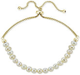 Giani Bernini 18k Gold-Plated Sterling Silver Fresh Water Pearl Adjustable Bracelet, Only at Macy's