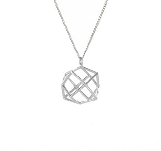 Origami Jewellery Frame Magic Ball Necklace Sterling Silver