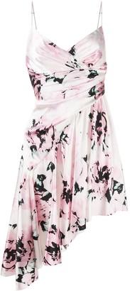 Alexandre Vauthier Floral Print Asymmetric Dress