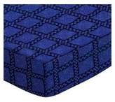 Camilla And Marc SheetWorld Fitted Pack N Play Sheet - Navy & Royal Wavy Check - Made In USA - 29.5 inches x 42 inches (74.9 cm x 106.7 cm)