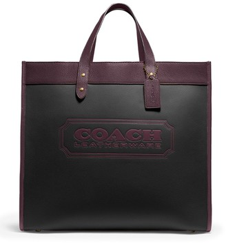 Coach Leather Field 40 Tote Bag