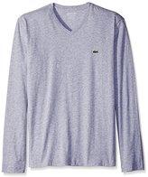 Lacoste Men's Long Sleeve Jersey Pima Regular Fit V Neck T-Shirt