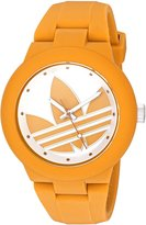 adidas Women's 'Aberdeen' Quartz Plastic and Silicone Automatic Watch, Color:Yellow (Model: ADH3116)