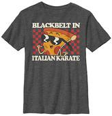 Fifth Sun Boys' Tee Shirts CHAR - Uncle Grandpa Charcoal Pizza Steve 'Italian Karate' Tee - Boys